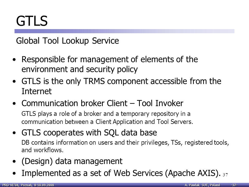 GTLS Global Tool Lookup Service
