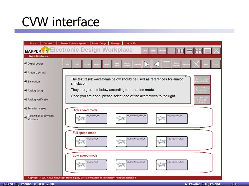 CVW interface