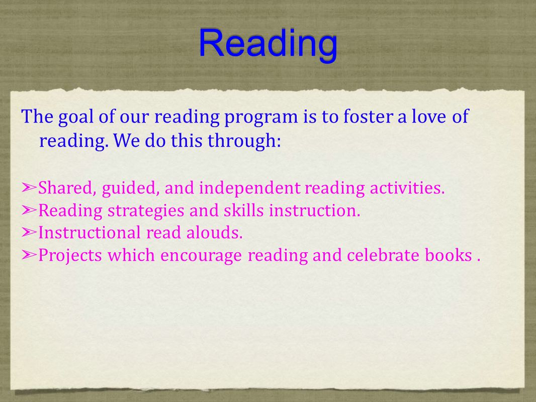 Guided Reading Instructional Strategies