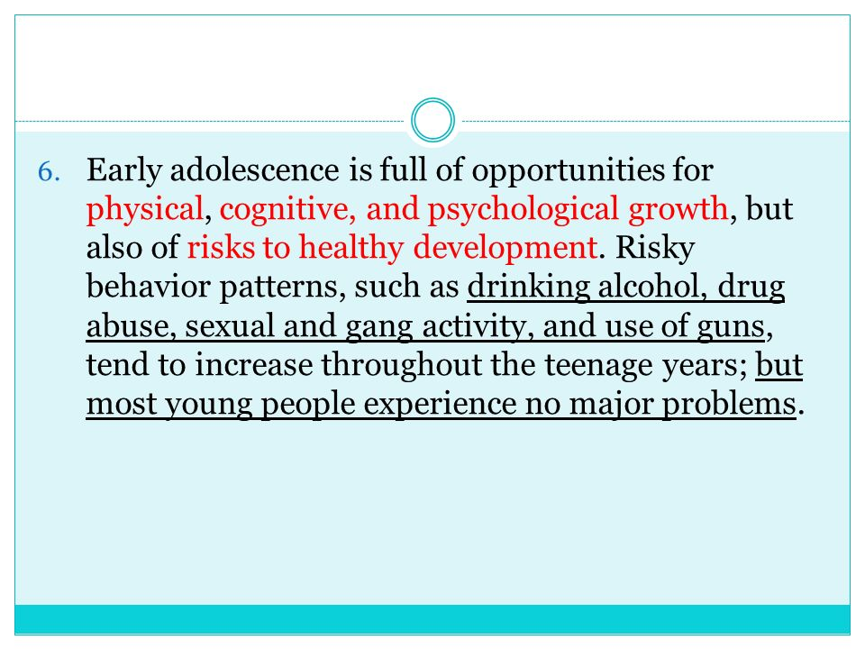 the effectiveness of substance abuse on the physical and sexual development of adolescents Delinquency and substance abuse in adolescents adolescent development and pathways in physical maturity, heightened sex drive.