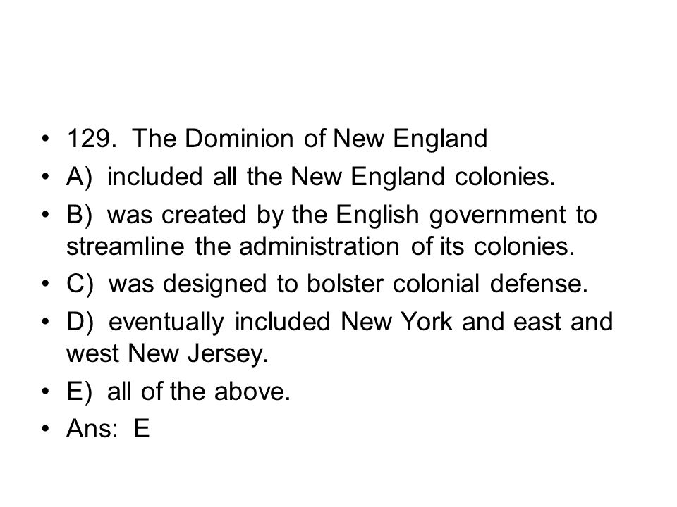 129. The Dominion of New England