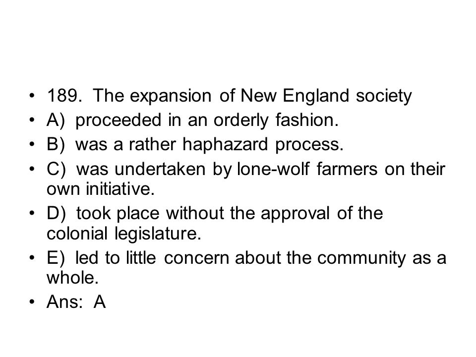 189. The expansion of New England society