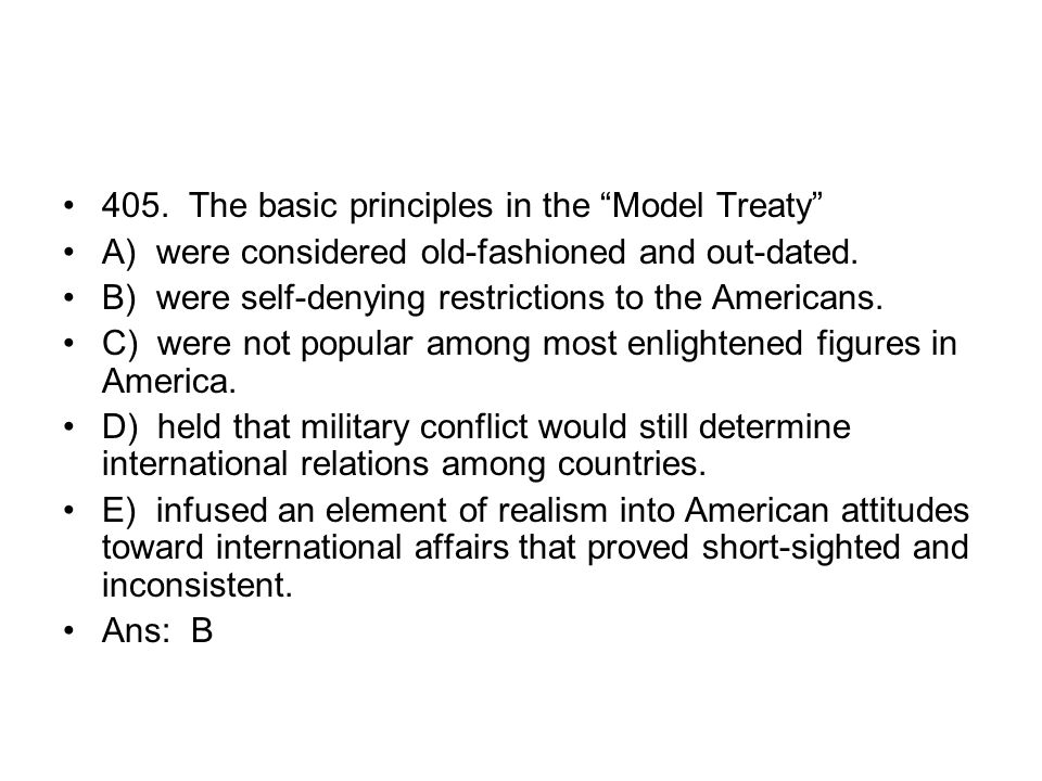 405. The basic principles in the Model Treaty