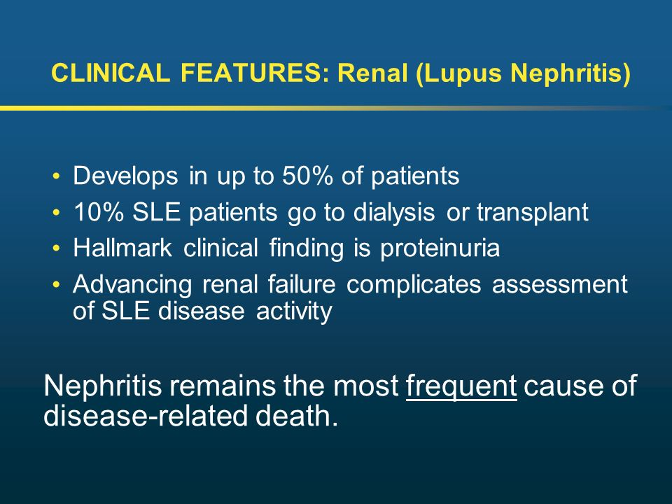 features of the lupus disease Systemic lupus erythematosus (sle) is a chronic autoimmune disease that often goes undiagnosed initially timely detection of sle is important, because prompt treatment can prevent its many major complications—notably, end organ damage here's how to distinguish sle from other illnesses with.