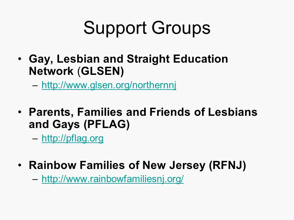 from Jonah support groups for parents of gays
