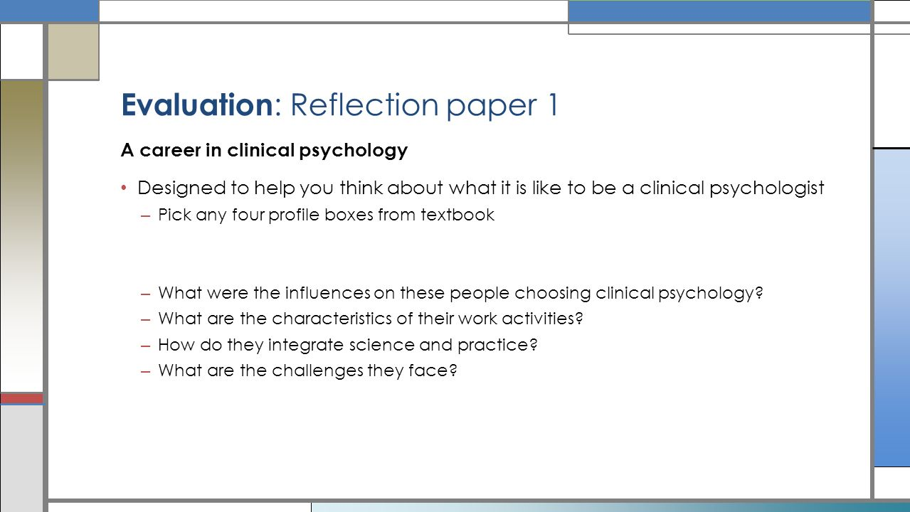 Psych clinical reflection essay