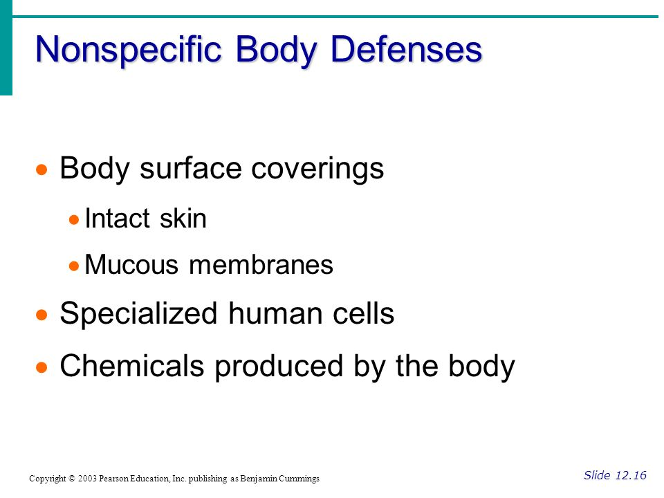 Nonspecific Body Defenses