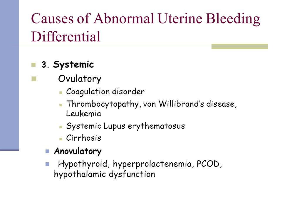 bleeding abnormal what causes vaginal