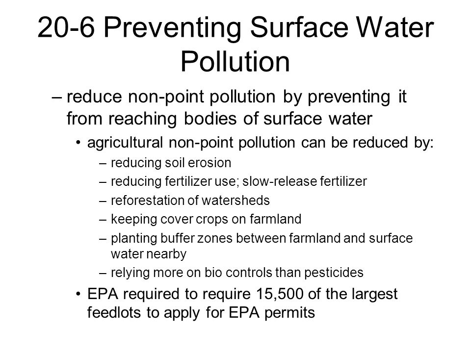 how to stop surface water pollution