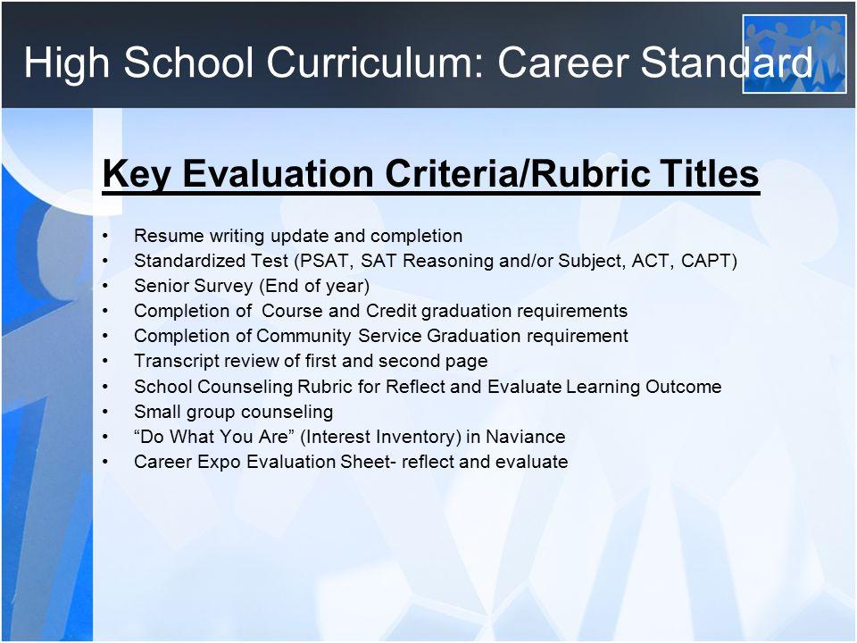 career evaluation