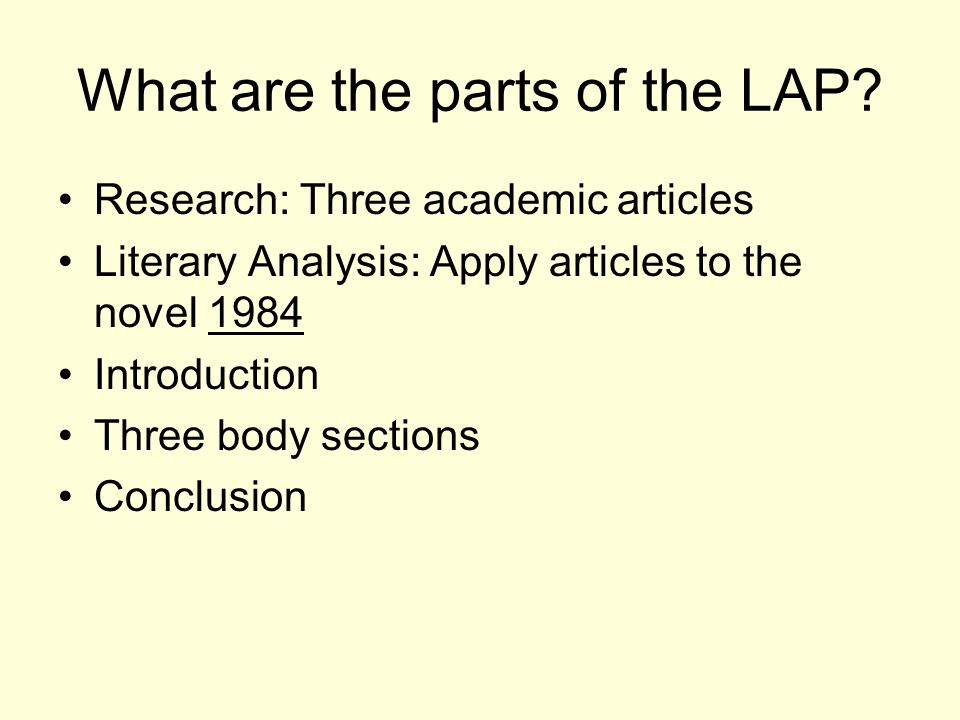 introduction to the lap ppt video online  3 what