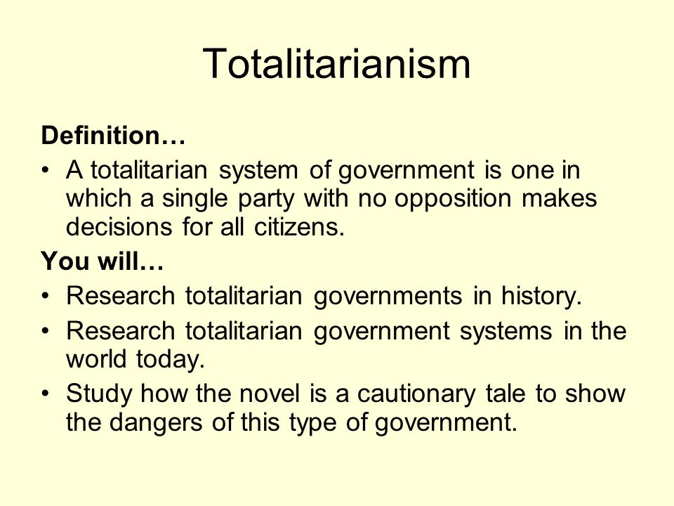 an introduction to the analysis of a totalitarian government in literature Histories of everyday life in totalitarian regimes is a new set in st james  press's  reading: literature) emphasize analysis of primary and secondary  sources.