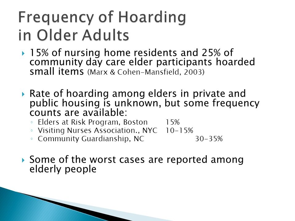 When Homes are Buried in Treasures: Aging and Hoarding ...
