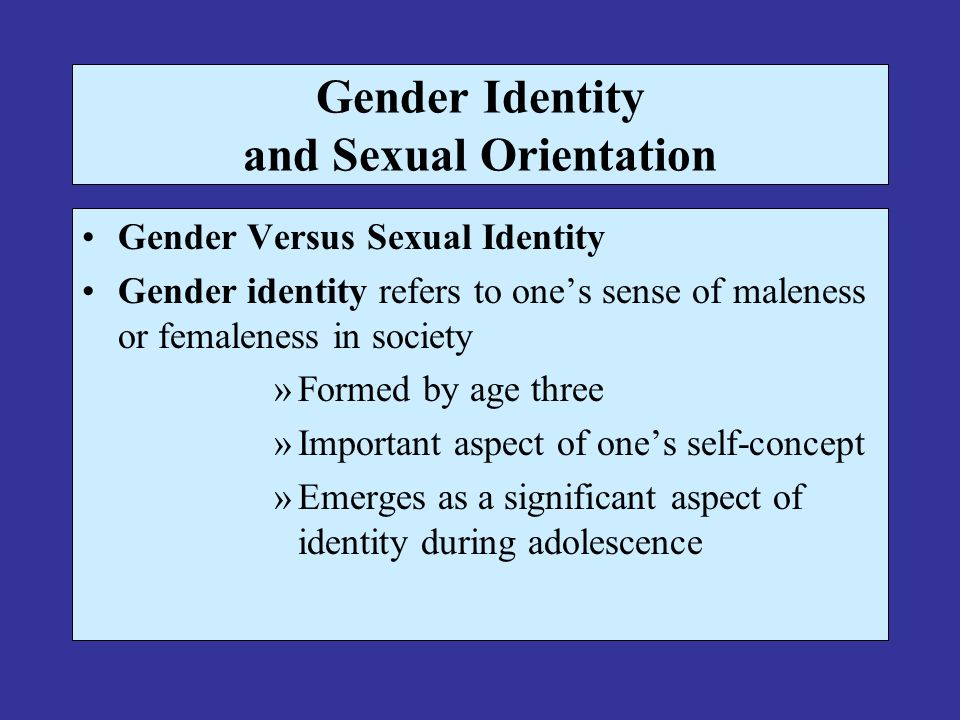 Gender tests sexual orientation