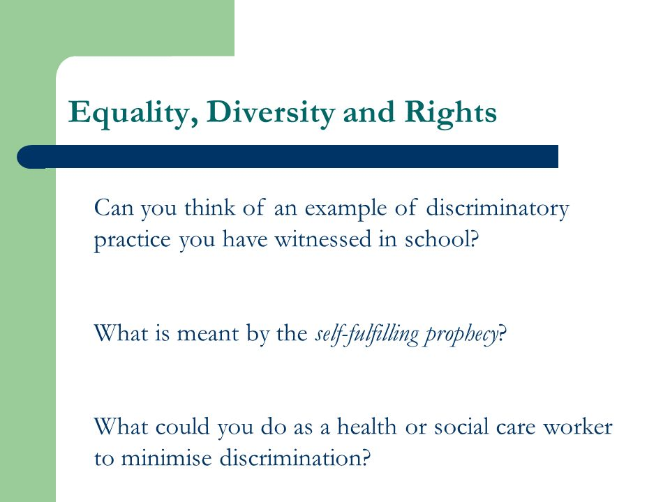 discrimination and social care essay example Stigma and discrimination persist  hiv and aids-related stigma can lead to discrimination, for example, when people living with hiv are prohibited from travelling.
