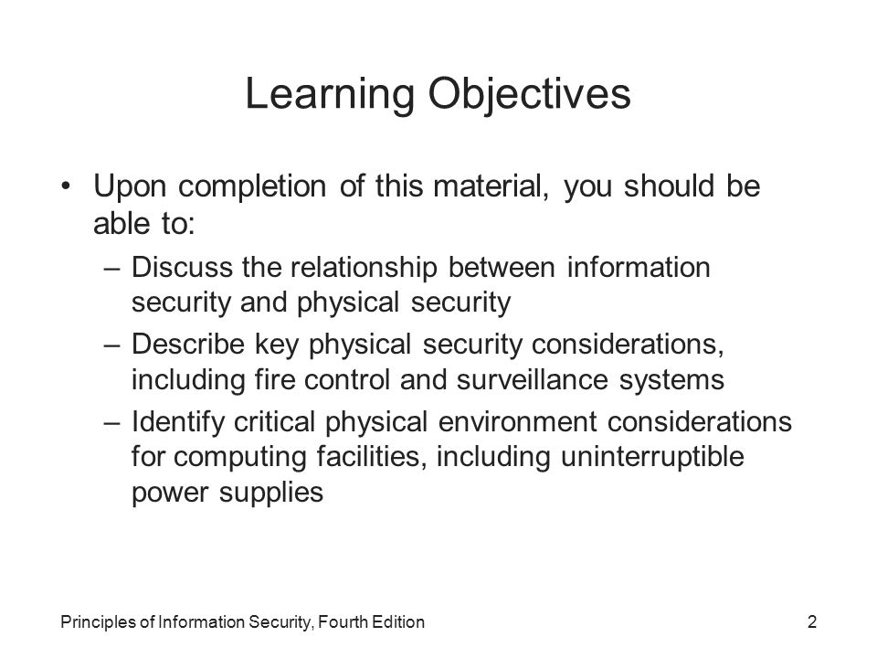 physical security principles essay There is a serious and sustained threat from both international and irish-related terrorism to the uk and uk interests overseas 1 threat levels.
