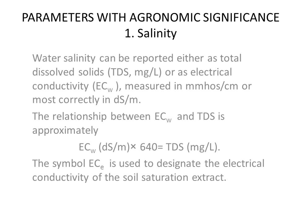 Chapter two water quality considerations ppt download for Soil quality parameters