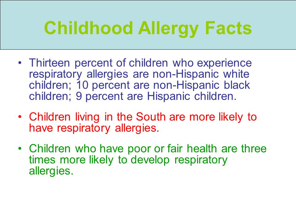 Childhood Allergy Facts
