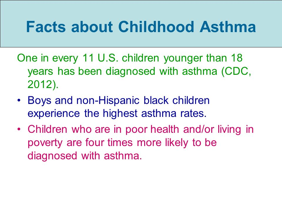 Facts about Childhood Asthma