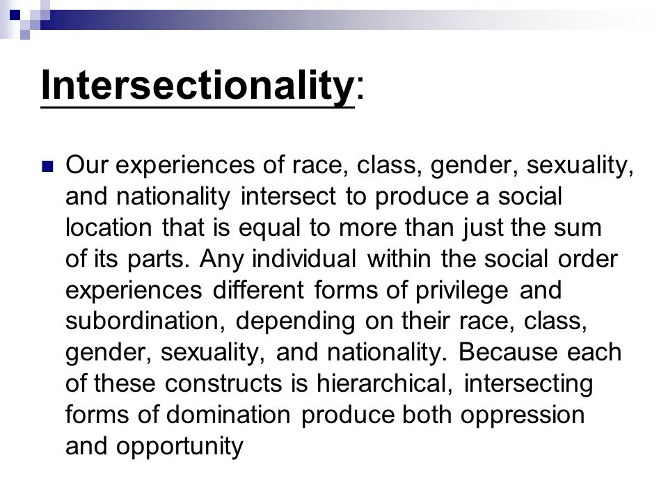 Intersectionality: