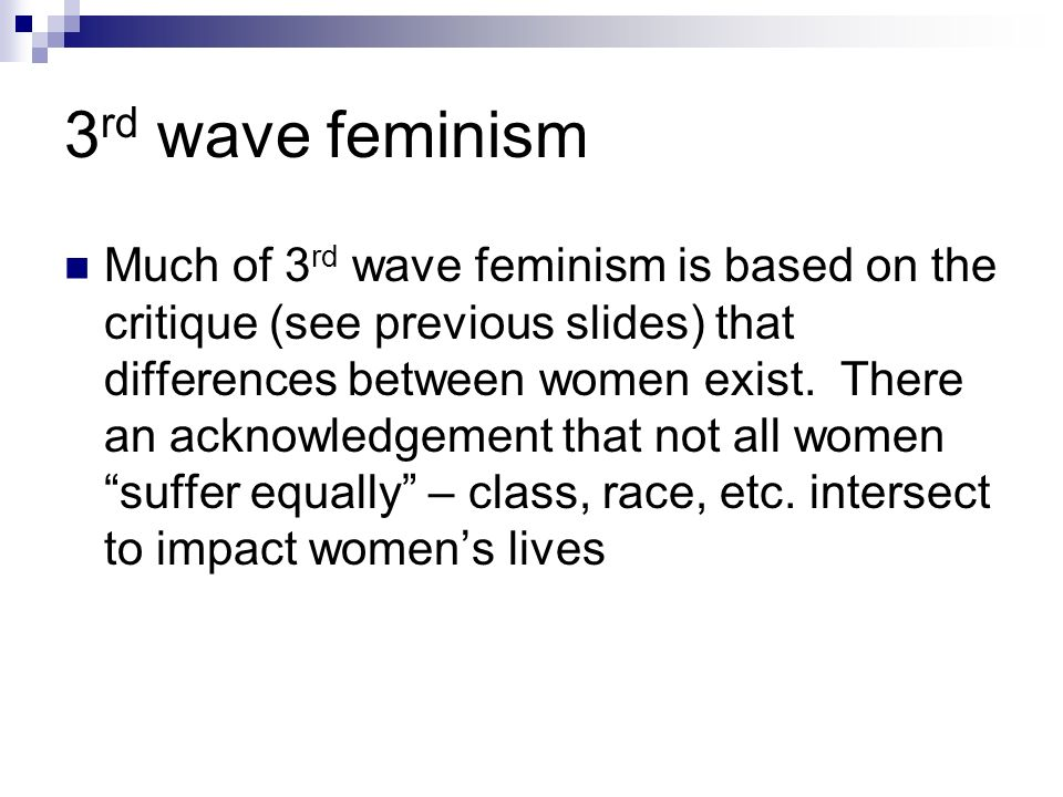 3rd wave feminism