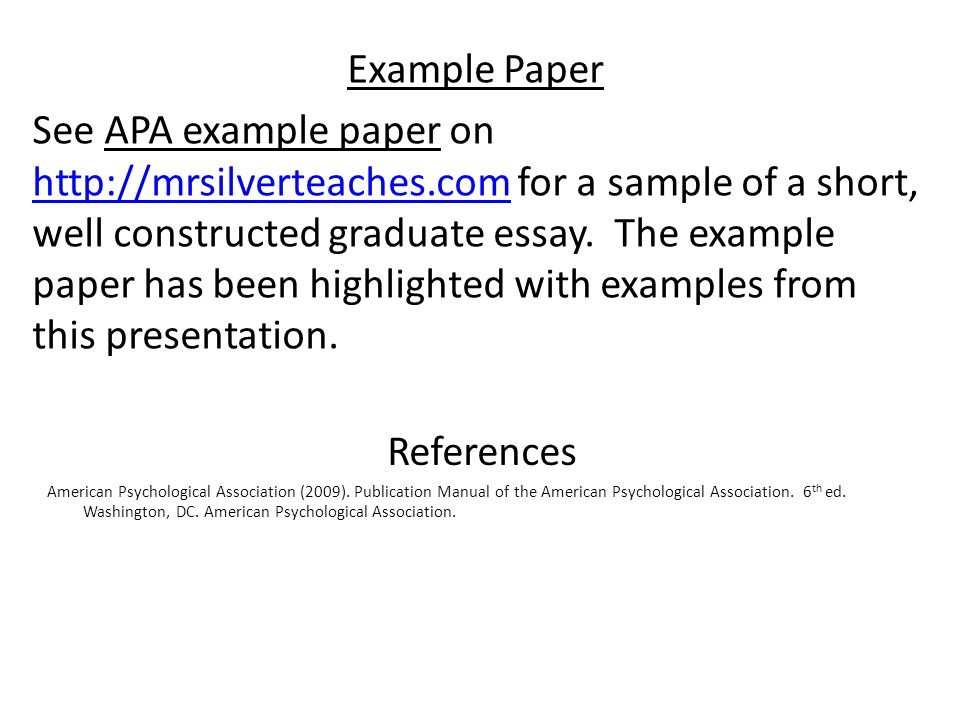 Apa Example Essay Review Of The Publication Manual Of The American