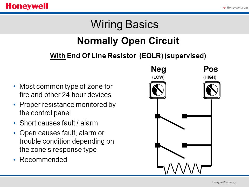 Normally Open Circuit With End Of Line Resistor (EOLR) (supervised)
