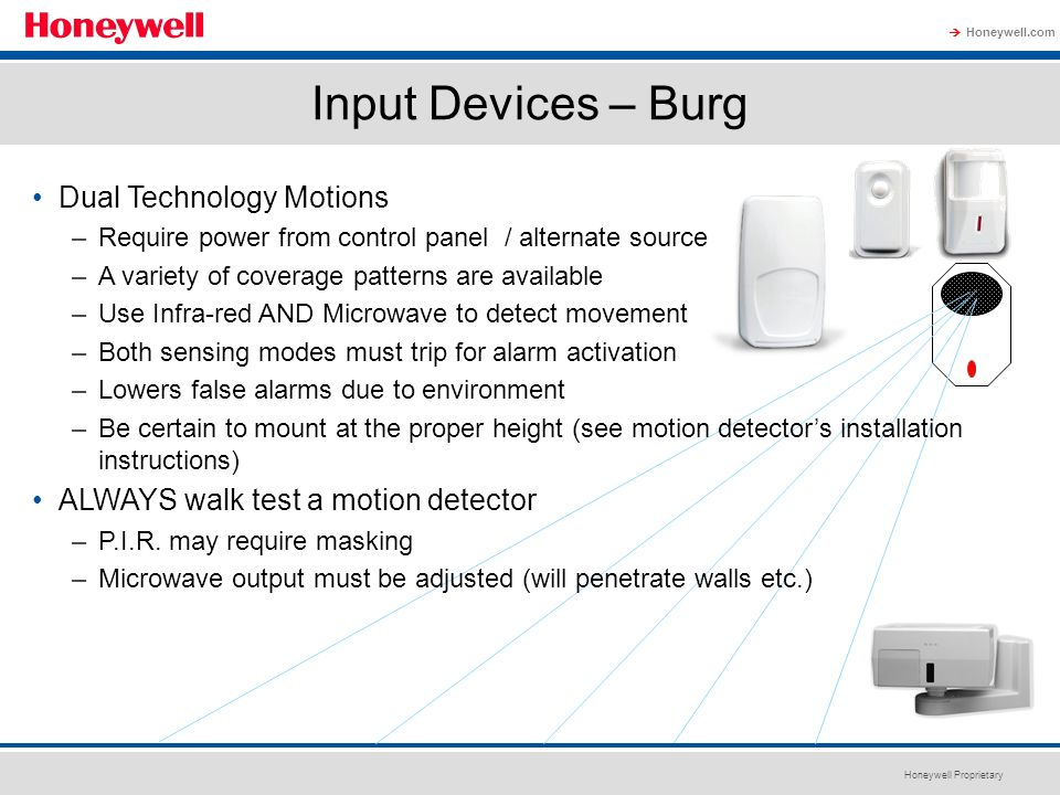 Input Devices – Burg Dual Technology Motions