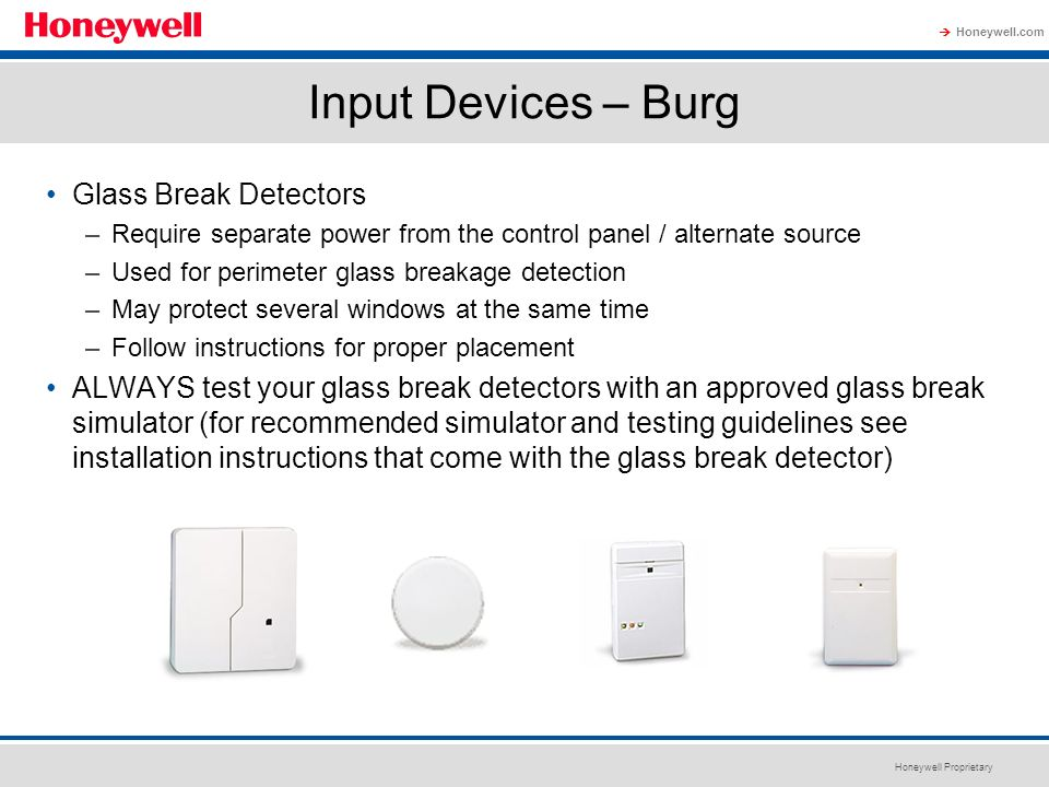 Input Devices – Burg Glass Break Detectors