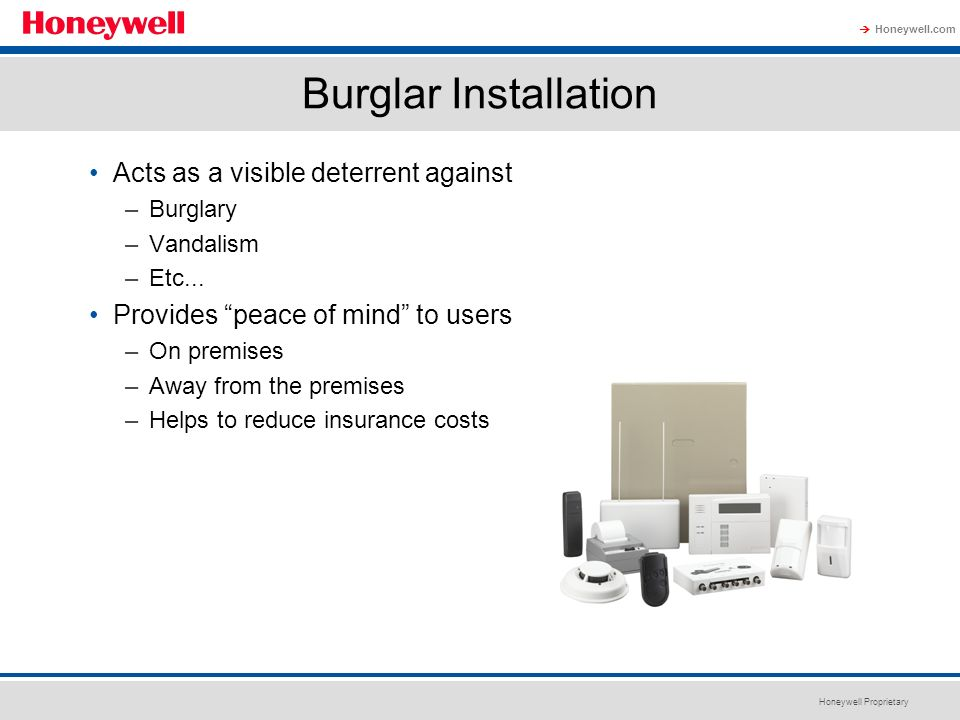 Burglar Installation Acts as a visible deterrent against