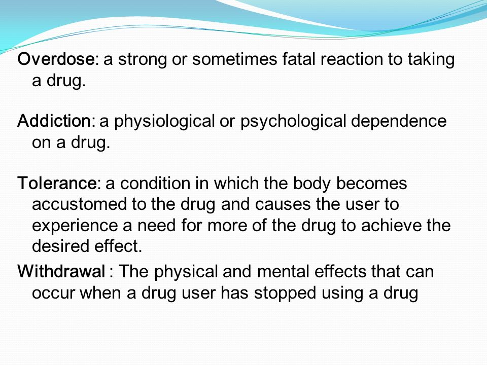drug tolerance essay Explain The Effect Of Conditioned Drug Tolerance And Why It May Important In Cases Of Drug Overdose