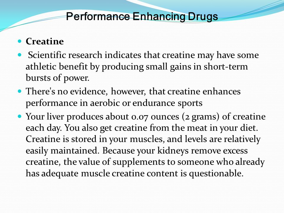 the effects of creatine a performance supplement in athletic sports Supplements in sport - why are they so tempting  thus, better performance  can come from a psychological belief rather than a real effect from the new  product  many of the claims made for ergogenic aids such as creatine, carnitine ,.