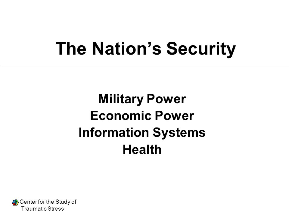 The Nation's Security Military Power Economic Power
