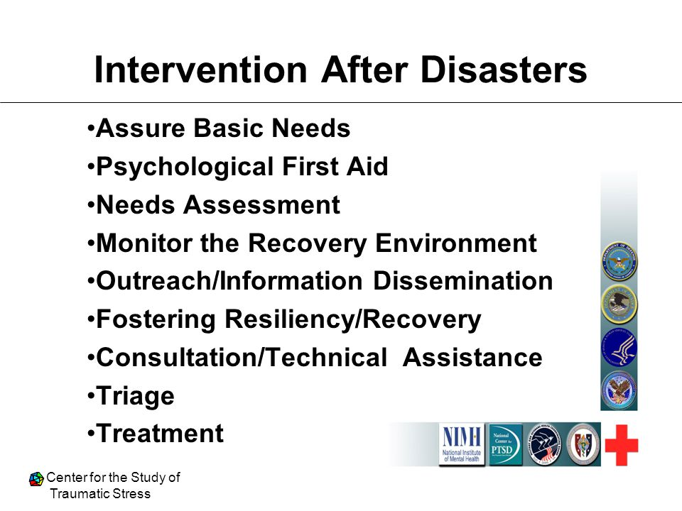 Intervention After Disasters