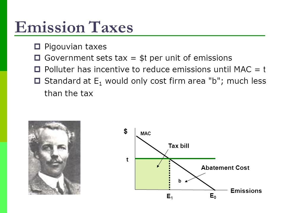 Emission Taxes Pigouvian taxes