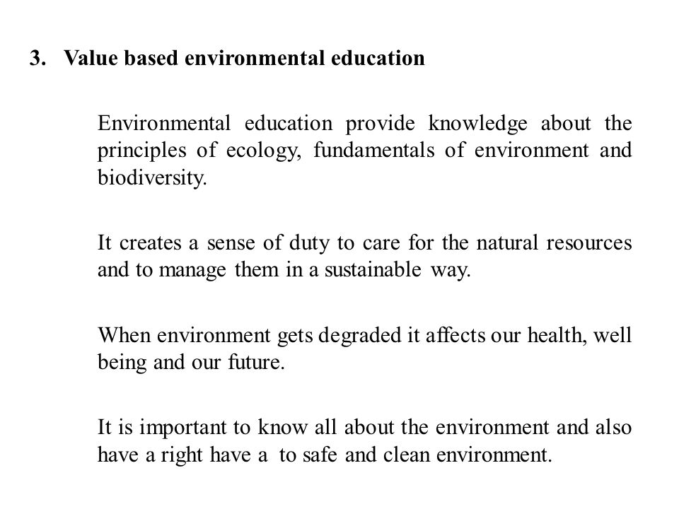 The importance of keeping our environment safe