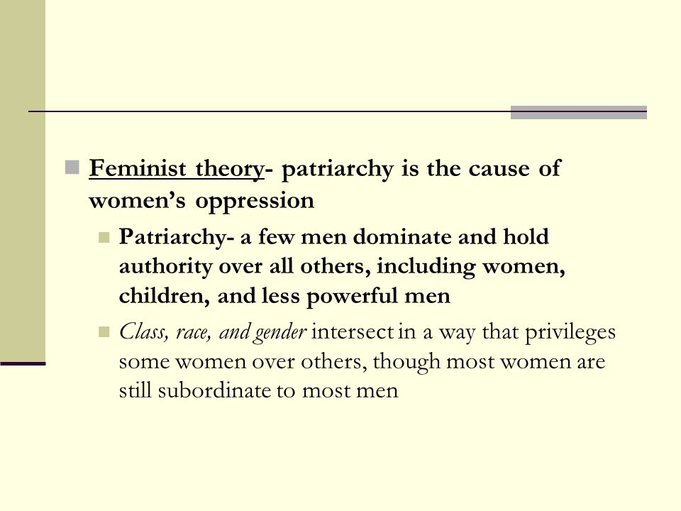 Patriarchy and Womens Subordination: A Theoretical Analysis