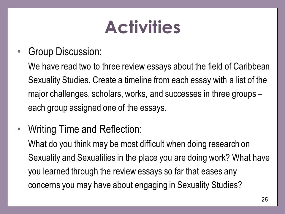 reflective essay on human sexuality
