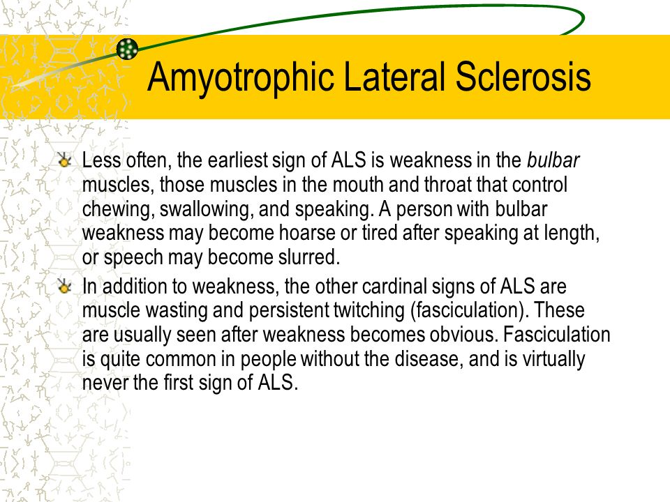 essays on amyotrophic lateral sclerosis Free essay: amyotrophic lateral sclerosis motor neuron disease maladie de charcot lou gehrig's disease what is the disease als is an extremely deadly.