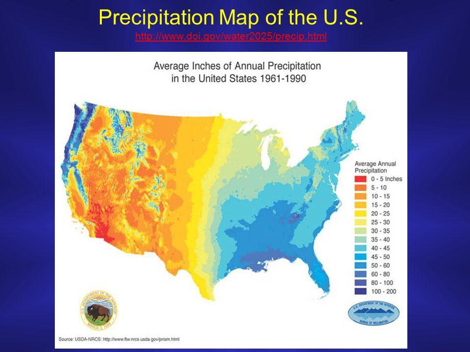 9 Precipitation Map Of The U S Http Www Doi Gov Water2025 Precip Html