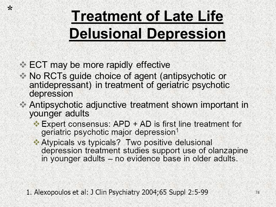 Alternative treatments for late life depression