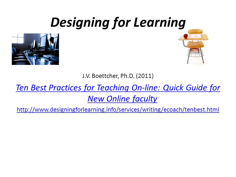 Designing for Learning
