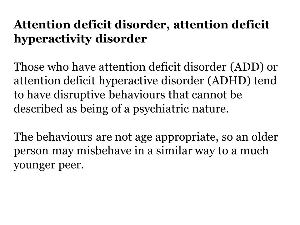 An Introduction to Attention Deficit Disorder