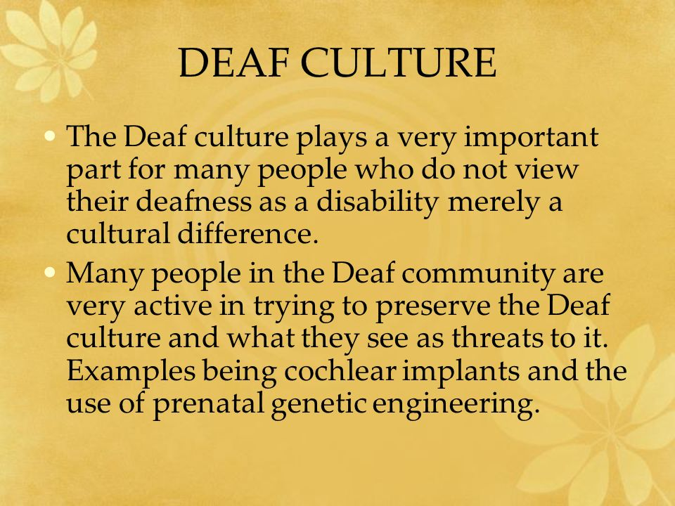 deaf essay View and download deaf culture essays examples also discover topics, titles, outlines, thesis statements, and conclusions for your deaf culture essay.