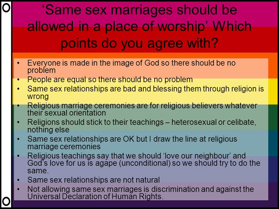 Should same sex marriage be aloud