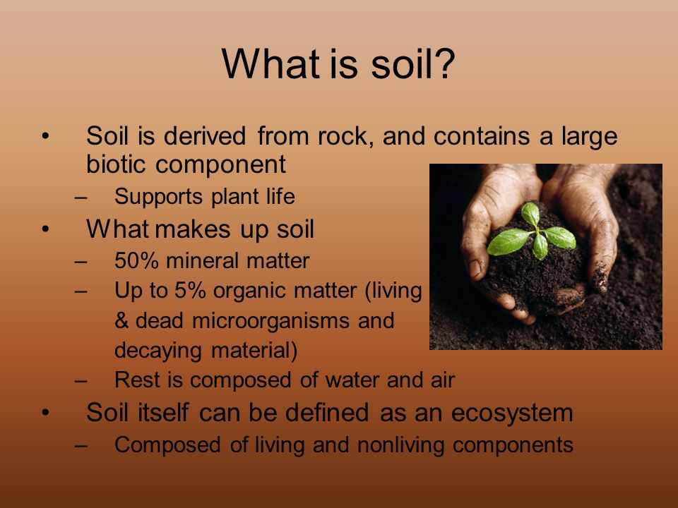 Characteristics degradation and conservation ppt video for What 5 materials make up soil