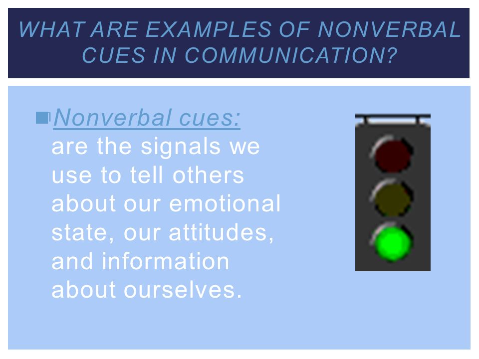 What are examples of nonverbal cues in communication