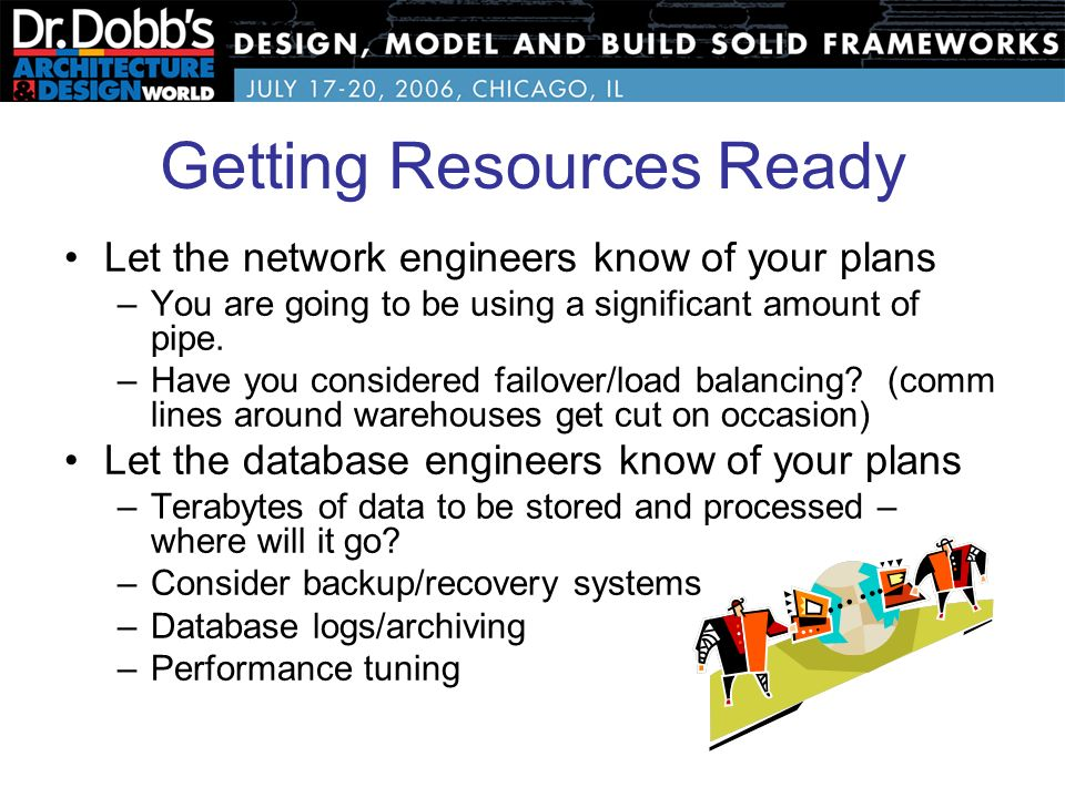26 getting resources ready - Database Engineers
