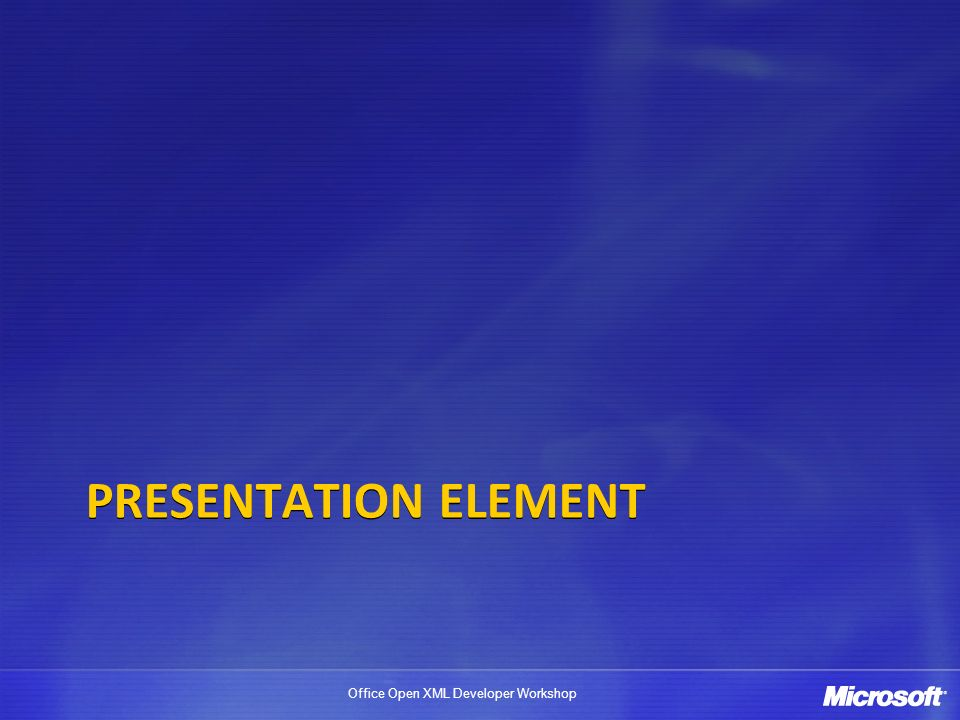 Presentation Element