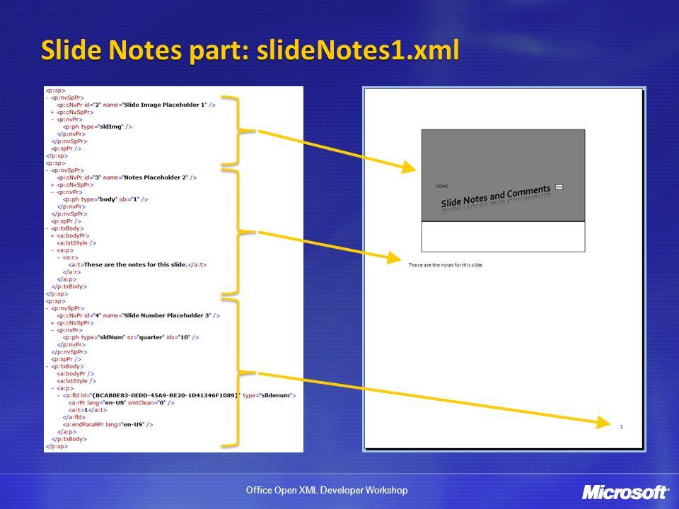 Slide Notes part: slideNotes1.xml